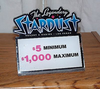 Stardust Casino Table Stakes Sign Black Jack 5.00 to 1000.00 #2