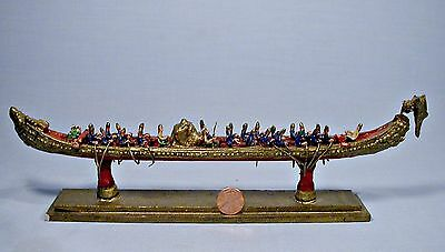 Thailand Royal Barge Procession Hand Crafted Vintage Model
