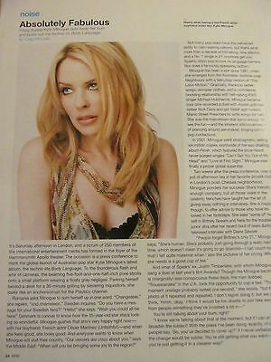 Kylie Minogue, Full Page Clipping
