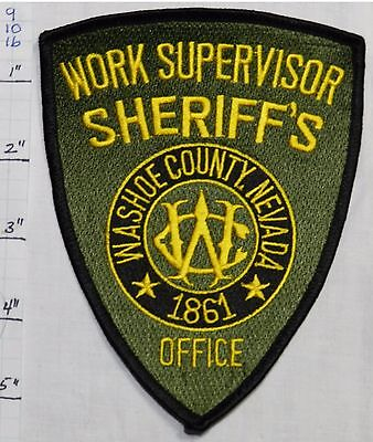 Nevada, Washoe County Sheriff's Office Work Supervisor Patch