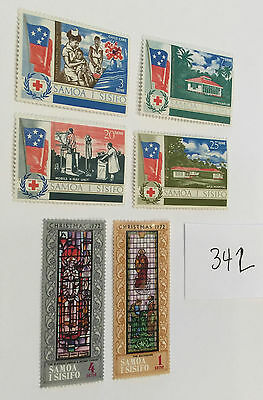 Samoa 1967 - 72 stamps lot of 6  Christmas British Colony env342