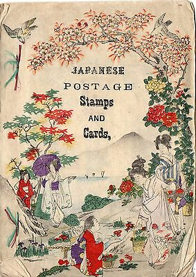 g851. Ca 1900 Booklet Japanese Postage Stamps and Cards by Rubidge w/ Woodblocks
