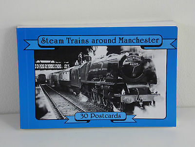 Steam Trains Around Manchester  Collection Of 30 Postcards