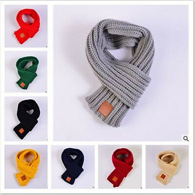 HOT 8 colors knit woolen yarn scarves fashion children keep warm scarves winter