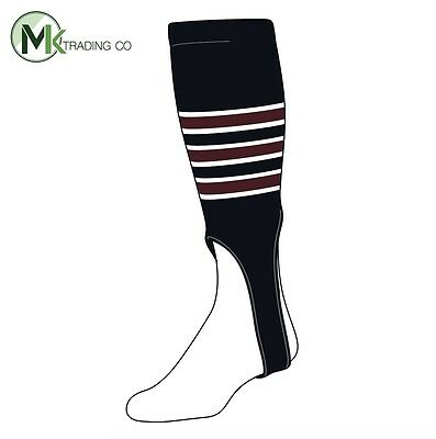 "-TCK® Large, 300D, 7"" - Black–White–Maroon - MLB® Baseball Stirrups"