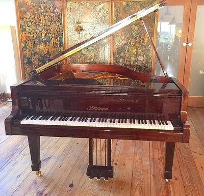 Bluthner Baby Grand Model 10 Fiddleback Mahogany High Gloss 5ft 3in 1988