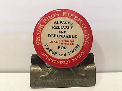 Vintage Celluloid Advertising Paper Clip Antique Rope Twine Springfield MA