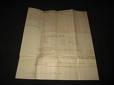 Lehigh Valley Coal Company-Wilkes-Barre, Pa-1909 Coal Royalty Statement
