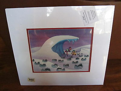 PINK PANTHER ORIGINAL PRODUCTION ANIMATION CEL W COA & BACKGROUND Bear Traps