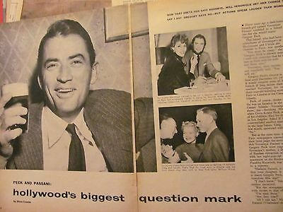Gregory Peck, Four Page Vintage Clipping