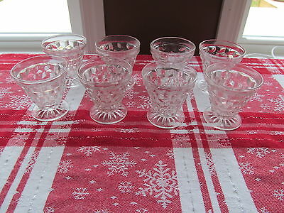 8 -  Fostoria AMERICAN SHRIMP COCKTAIL OYSTER DISHES GLASSES