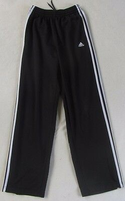 Adidas Girl's or Boy's Polyester Athletic Black & White Pants With Pockets - XL
