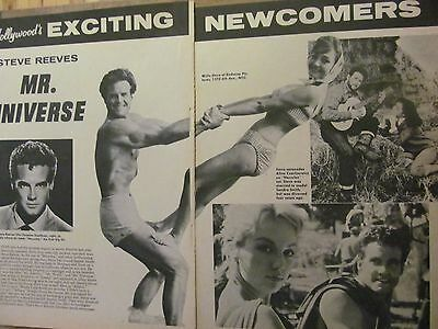 Steve Reeves, Two Page Vintage Clipping