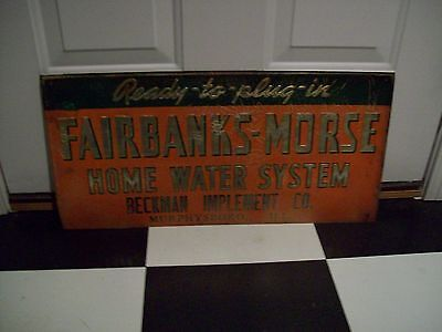FAIRBANKS-MORSE ANTIQUE ADVERTISING SIGN 1950s NEW NOS GREAT CHRISTMAS GIFT
