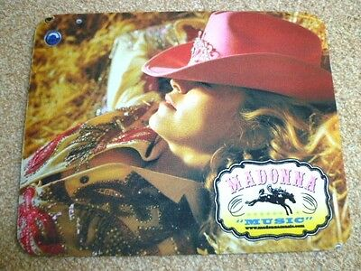 MADONNA - MUSIC : 2000 Official Madonna merchandise mouse pad : rebel heart/CD