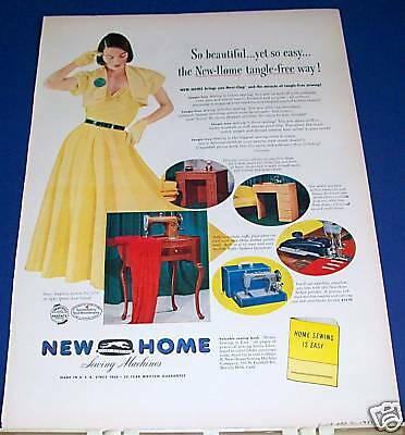 1951 vintage New Home Sewing Machine Ad