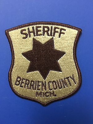 Berrien County Michigan Sheriff  Shoulder Patch Used
