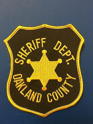 Oakland County Michigan Sheriff  Shoulder Patch Used