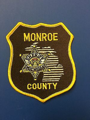 Monroe County Michigan Sheriff  Shoulder Patch Used