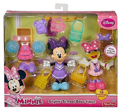 Disney Minnie Mouse Stylin School Bow-Tique - 18 Play Pieces Snap-On *new*