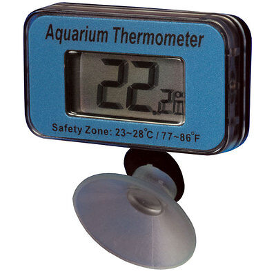Waterproof Digital Aquarium Thermometer which is immersed inside the fish tank