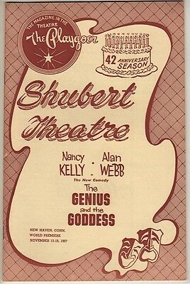 """Playbill """"The Genius and the Goddess"""" 1957 TRYOUT FLOP Aldous Huxley, Alan Webb"""