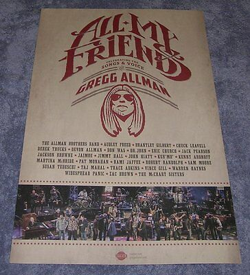 Gregg Allman Brothers ~ All My Friends ~ 2014 Promo Promotional Ad ~ Poster