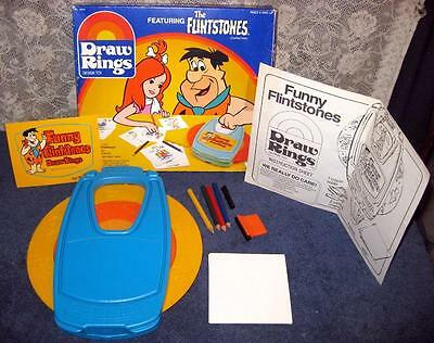 Vintage 1984 Kenner THE FLINTSTONES Draw Rings w Box COMPLETE