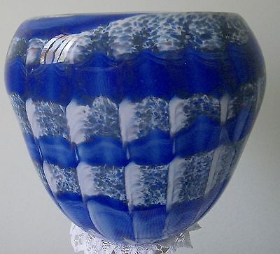 Vintage  Retro Castellani Glass Vase. Murano Art . Heavy Piece.