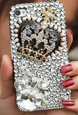 """3D Handmade Crown crystal Finished case cover Skin For iPhone6   4.7"""" NEW  */7"""