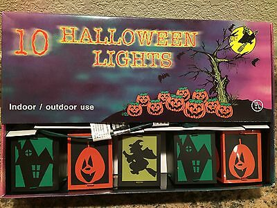 New Set Of Ten Halloween Silhouette Colorful Lights