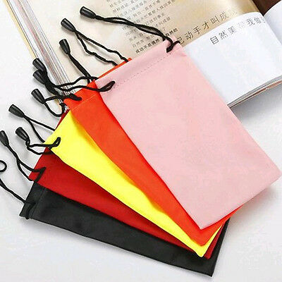 Microfiber Utility Pouch Bag For Sunglasses Glass Lanyard Drawstring Dust Pouch
