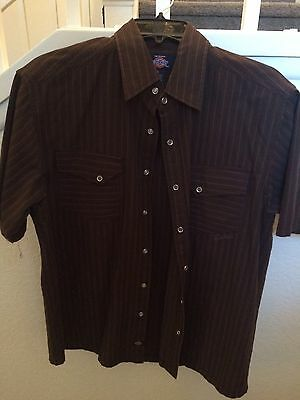 MENS DICKIES SHORT SLEEVE SHIRT SIZE LARGE In Great Condition!