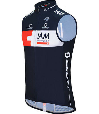 Weste IAM Cycling Team Silver Wind Shield Splash Vest 2015