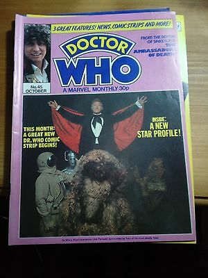 DOCTOR WHO MONTHLY MAGAZINE No.45 OCTOBER 1980