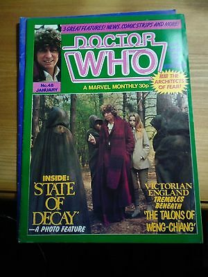 DOCTOR WHO MONTHLY MAGAZINE No.48 JANUARY 1981