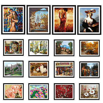 """16""""x20"""" (NO FRAME) DIY Paint By Number Kit On Canvas -- Beautiful in World"""