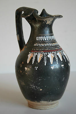 LARGE ANCIENT GREEK POTTERY GNATHIAN OLPE 4th CENTURY BC WINE CUP