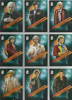 """Topps Doctor Who Timeless - """"Doctors Across Time"""" Set of 13 Chase Cards"""