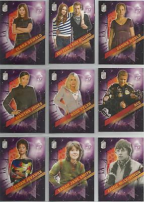 """Topps Doctor Who Timeless - """"Companions Across Time"""" Set of 10 Chase Cards"""