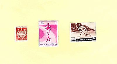 San Marino Stamps 1945 Coat Of Arms 1953 Tennis 1954 Athlete
