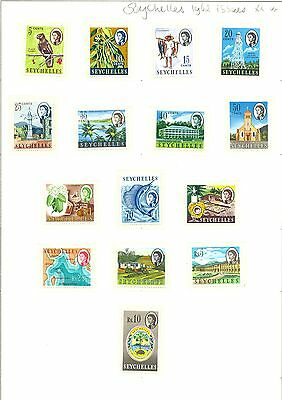 Seychelles   1962  Issued  15 St.   **  Mnh  Vf