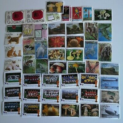 100 Different Guyana Stamp Collection