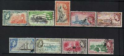 Barbados 1953-1961 Definitives 9 Used Values