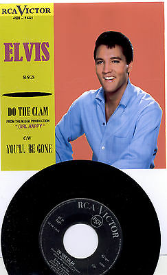 Elvis Presley Do The Clam -Original Italy Single In New Glossy Cover