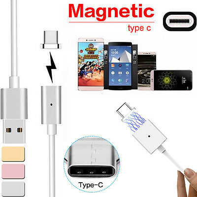 Magnetic USB Charger Cord Sync Data Cable TypeC Plug Micro USB For Android Phone
