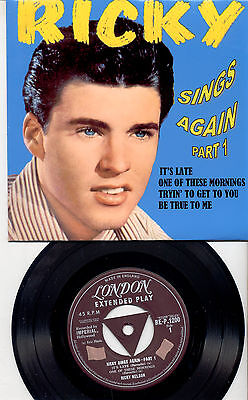 Ricky Nelson  Uk Ep Sings Againpart One     In New Glossy Cover