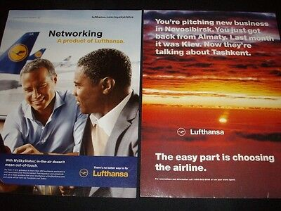 LUFTHANSA magazine ads lot ** airlines