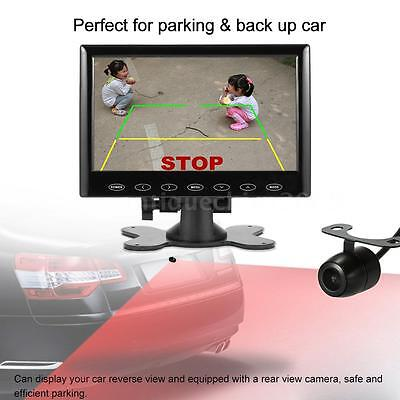 """7"""" HD TFT LCD Screen Car Rearview Backup Monitor With Reverse Camera USB UK H3C5"""