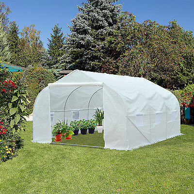 11.5 x 10 FT Portable Walk-In Greenhouse Plant Gardening Shed Heavy Duty White
